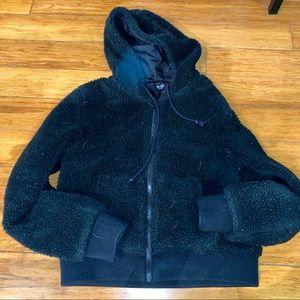 Brandy Melville zip up teddy jacket